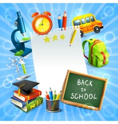 Back to school concept template vector image vector image