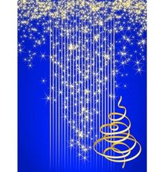 blue christmas card vector illustration vector image