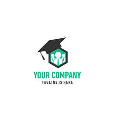 business bee logo vector image