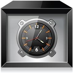 Clock in the Black box vector image