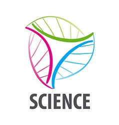 DNA logo in the form of multi colored flower vector image