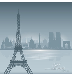 Paris France skyline city silhouette Background vector image