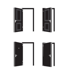 black door vector image vector image