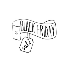 Black friday hand drawn type on the doodle style vector image vector image