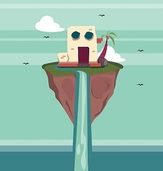 Floating Island Fantasy vector image