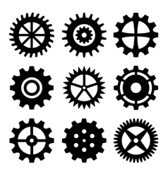 Gear wheels isolated on white background vector image vector image