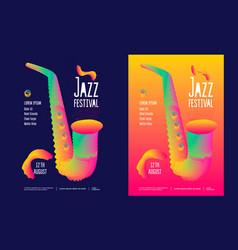 jazz music festival vector image