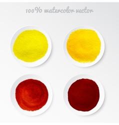 Set real watercolor circle vector image