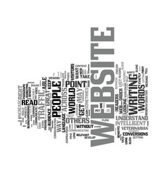 Your way with words is key to increased website vector