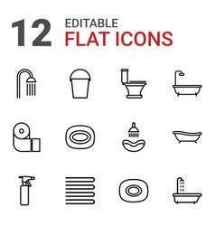 12 bath icons vector