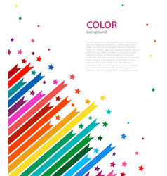 Abstract colored lines and stars vector