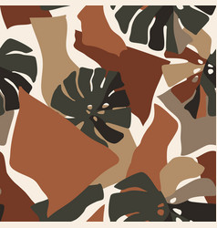 abstract seamless pattern with paper cut vector image