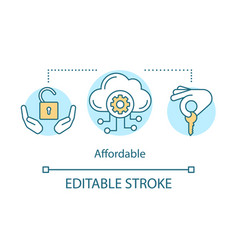 Affordability concept icon vector