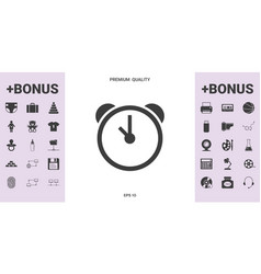 alarm clock icon - graphic elements for your vector image