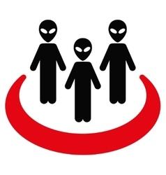Alien Community Flat Icon vector image