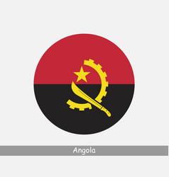 Angola round circle flag vector
