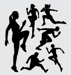 Athletic sport silhouette vector