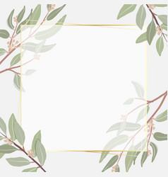 beautiful minimal seeded eucalyptus leaves square vector image