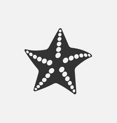 black starfish icon vector image