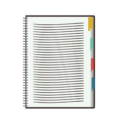 blank notebook icon vector image