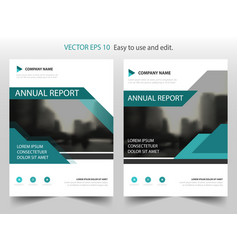 blue abstract triangle annual report leaflet vector image