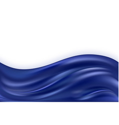 Blue silk wave smooth satin texture shiny glowing vector