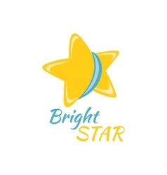 Bright Star Icon Sign Logo Badge vector image