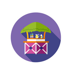 cafe bar bungalows on the beach icon vacation vector image