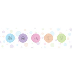 Certificate icons vector