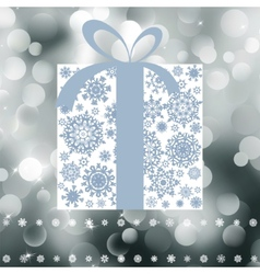 Christmas gift box with copy space card eps 8 vector