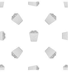 Cinema popcorn box pattern seamless vector