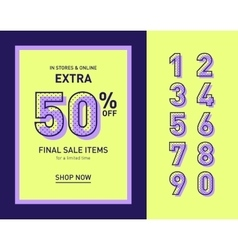 Clean trendy sale banner template Flat vector image