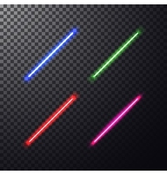 Colorful laser beam vector