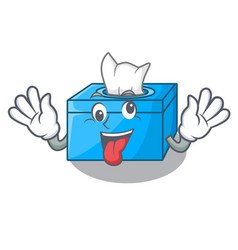 Crazy tissue box isolated on the mascot vector