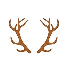 Deer horn vector
