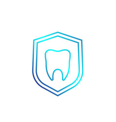 dental insurance linear icon vector image