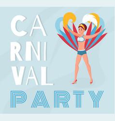 Dominican republic carnival banner template vector