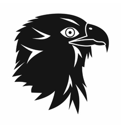 Eagle icon simple style vector