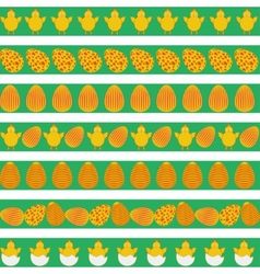 Easter colorful borders vector image