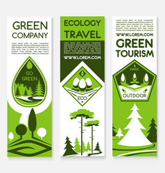 Eco green travel banners vector