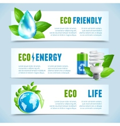 Ecology horizontal banners vector
