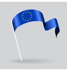 European Union wavy flag vector
