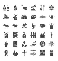 farming solid web icons vector image