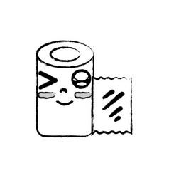 Figure kawaii cute funny gauze medical tool vector