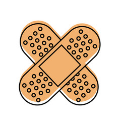 first aid band plaster medical of cross type icon vector image