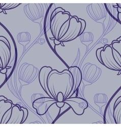 Floral blue vintage seamless background vector