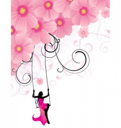 Flowers cosmos swing vector