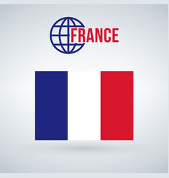 france flag isolated on modern background with vector image