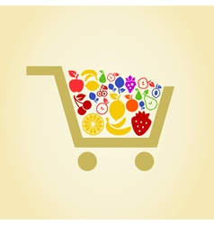 Fruit a cart vector image