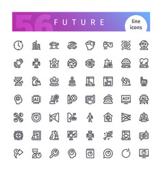 Future line icons set vector